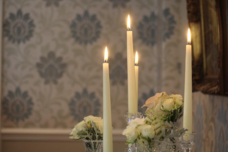 무료 사진: 촛불, 결혼식, 화재, 장식, 테이블, 꽃, 꽃다발, 정렬 ...