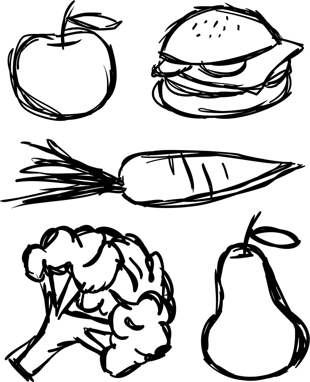 завут рисунки еды карандашом кабеля стене