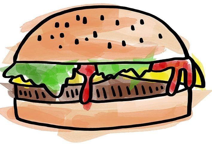 Картинка бургера с глазами