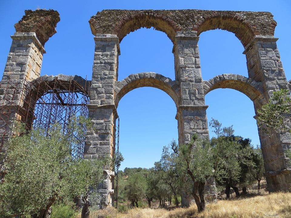 Lesbos, Aquaduct, Moria, Waterpijp, Romeinen, Boog