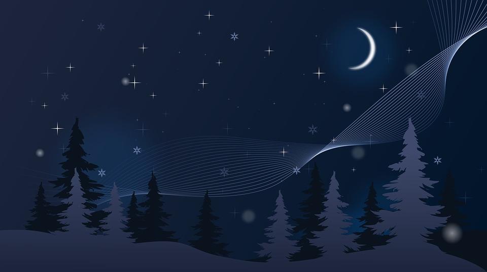 Tapete Winter Nacht · Kostenloses Bild auf Pixabay