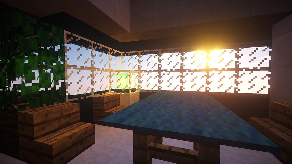 minecraft interior lighting inside minecraft video game blokken gratis afbeelding op pixabay