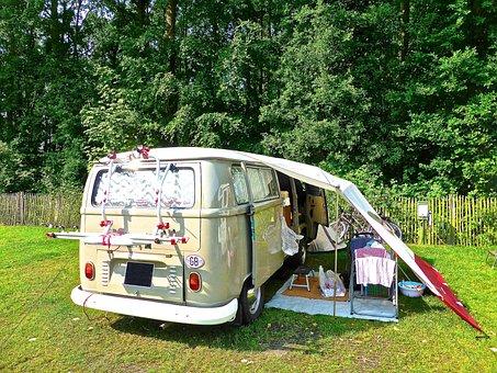 Camping, Kombi, Retro, Volkswagen