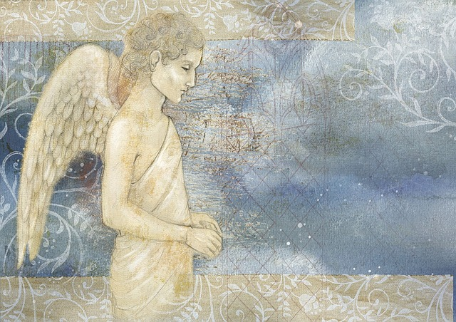 Free Illustration Angel Background Clouds Free Image