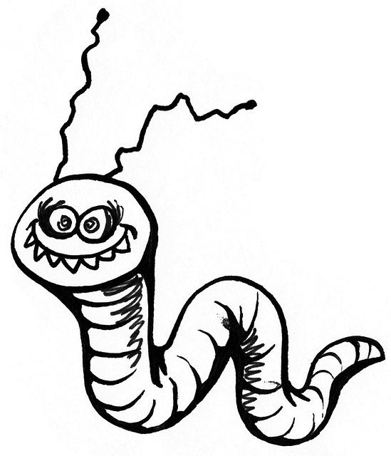 Смешная картинка червя, днем
