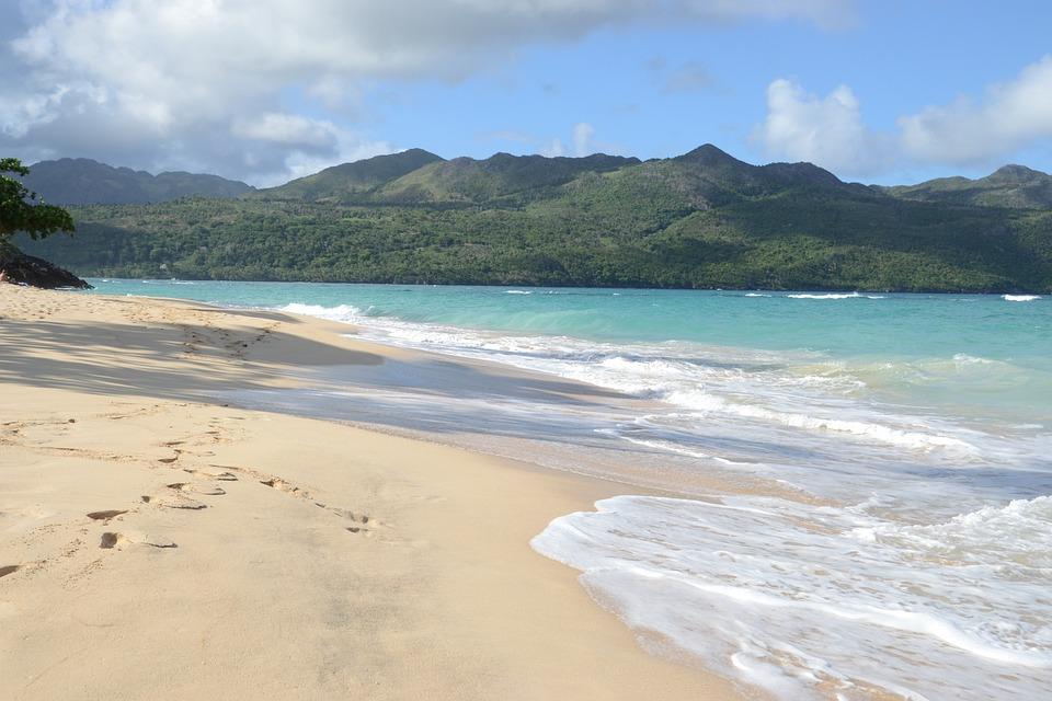 Plaża Dominikana, Urlop, Beach, Wody, Lato, Niebieski