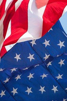 American Flag Flag Waving American Us