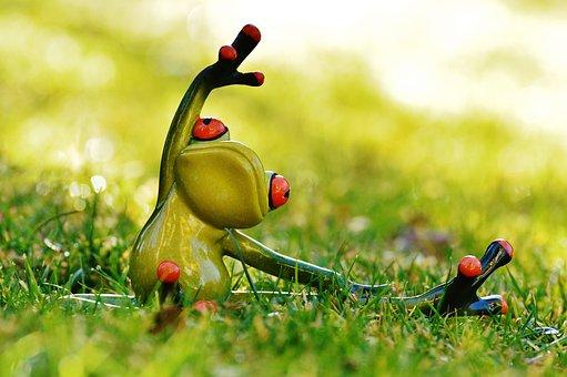 Frosch Yoga Wiese Figur Tier Grün Niedlich