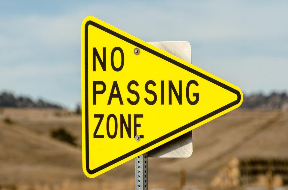 free photo: no passing zone, sign, triangle - free image on