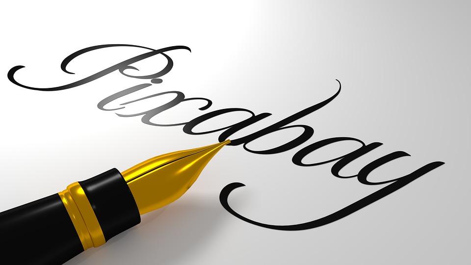Caligrafia, Bela Escritura, Pixabay, Caneta, Arte
