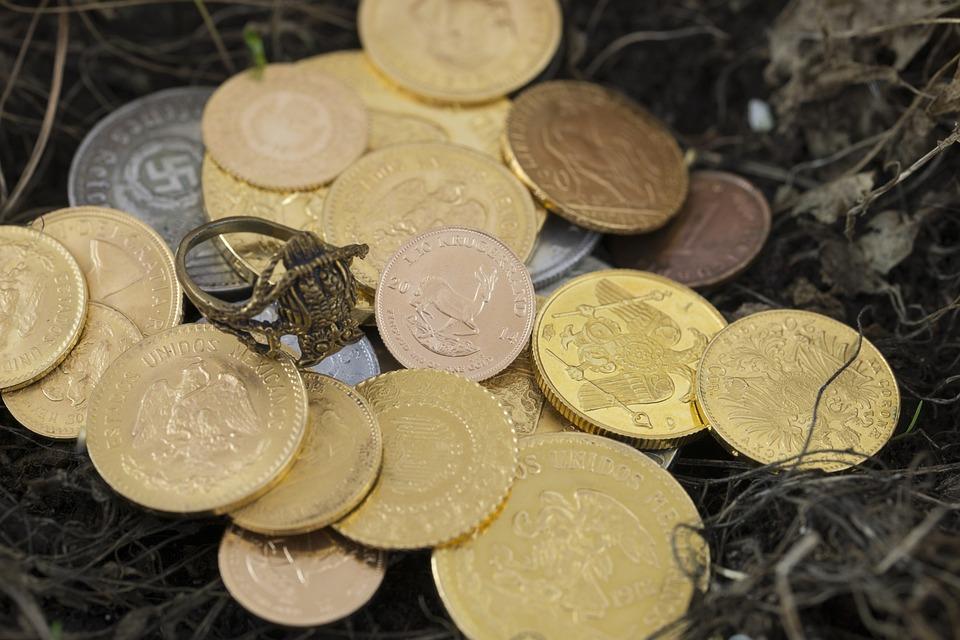 たくさんの金貨