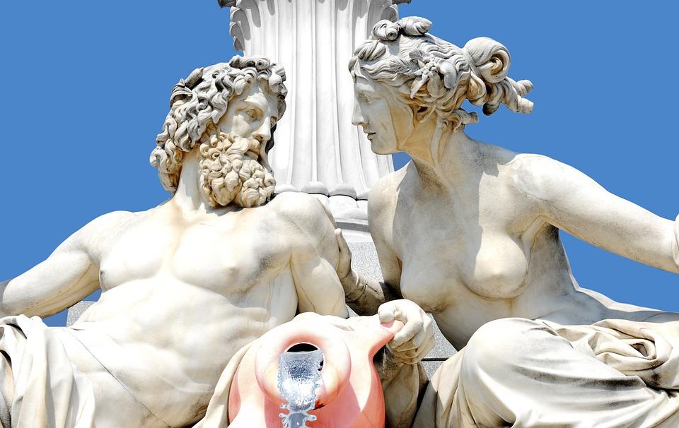 Escultura, Griego, Estatua, Figura, Arte, Pilar, Cielo