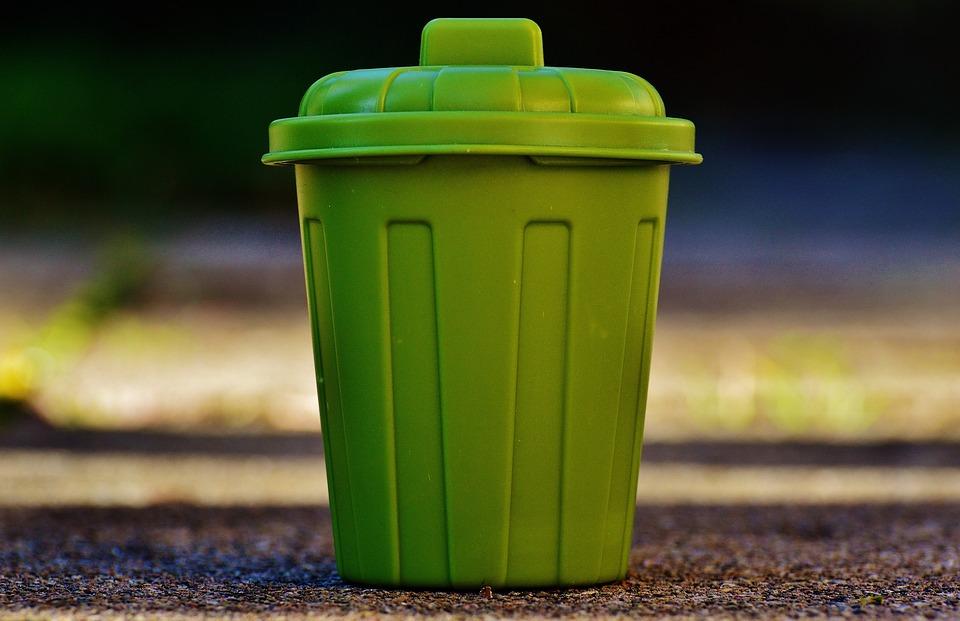 ごみばこ, ごみ, バケツ, 緑, ゴミ箱, ごみ箱, 廃棄, コンテナー, トン, 使い捨て社会