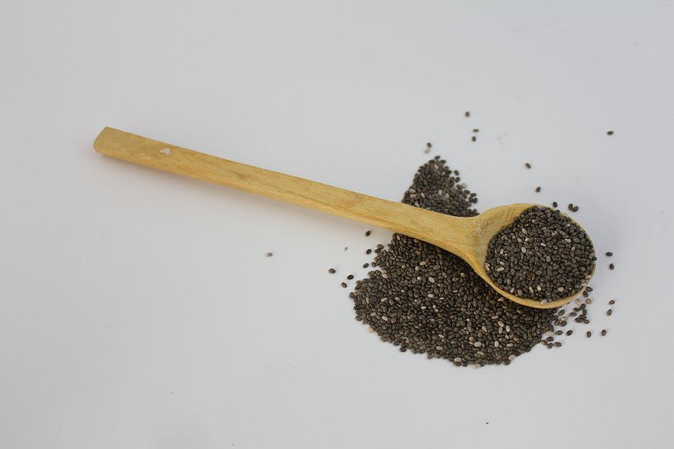 Spoon, Chia Seeds, Healthy, Diet, Gray Healthy