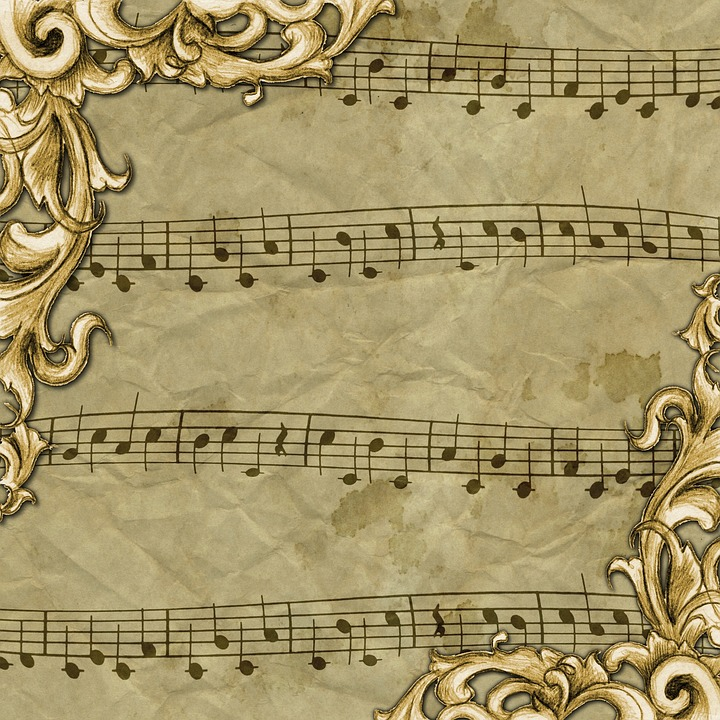 Vintage, Background, Texture, Music, Note, Sheet Music