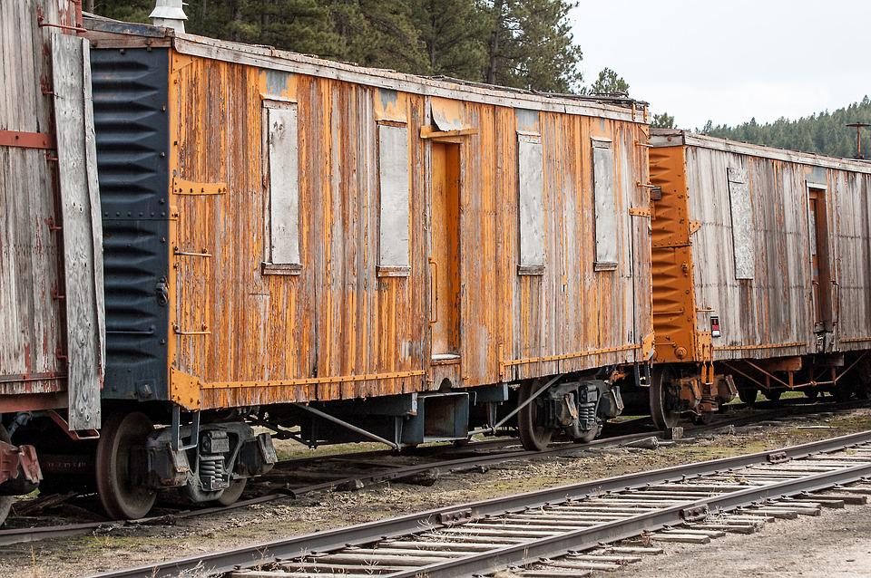 Wooden Rail Cars ~ Train antique cars · free photo on pixabay