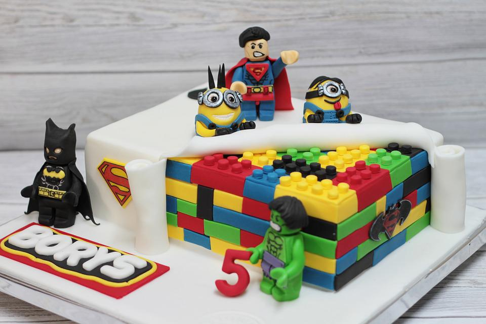 Free photo lego cake eating decoration free image on for Decoration lego