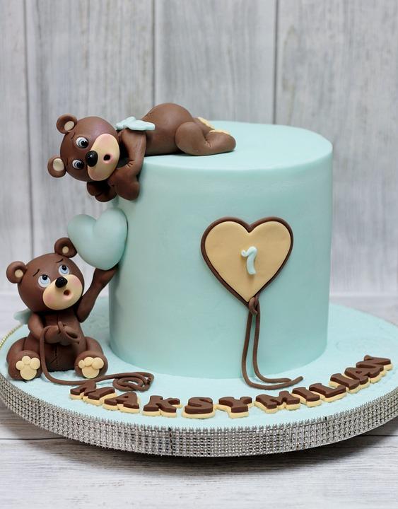 Teddy Bear Cake Birthday Free Photo On Pixabay