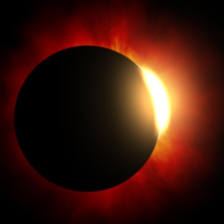 Солнечное Затмение, Солнце, Луна, Астрономия, Солнечный
