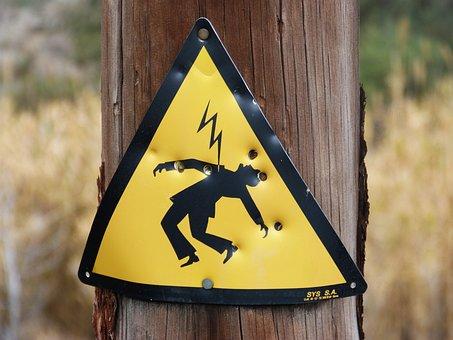 Danger, Power Line, Electric Shock