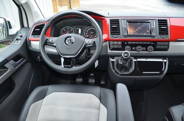 kostenloses foto volkswagen multivan t6 cockpit. Black Bedroom Furniture Sets. Home Design Ideas
