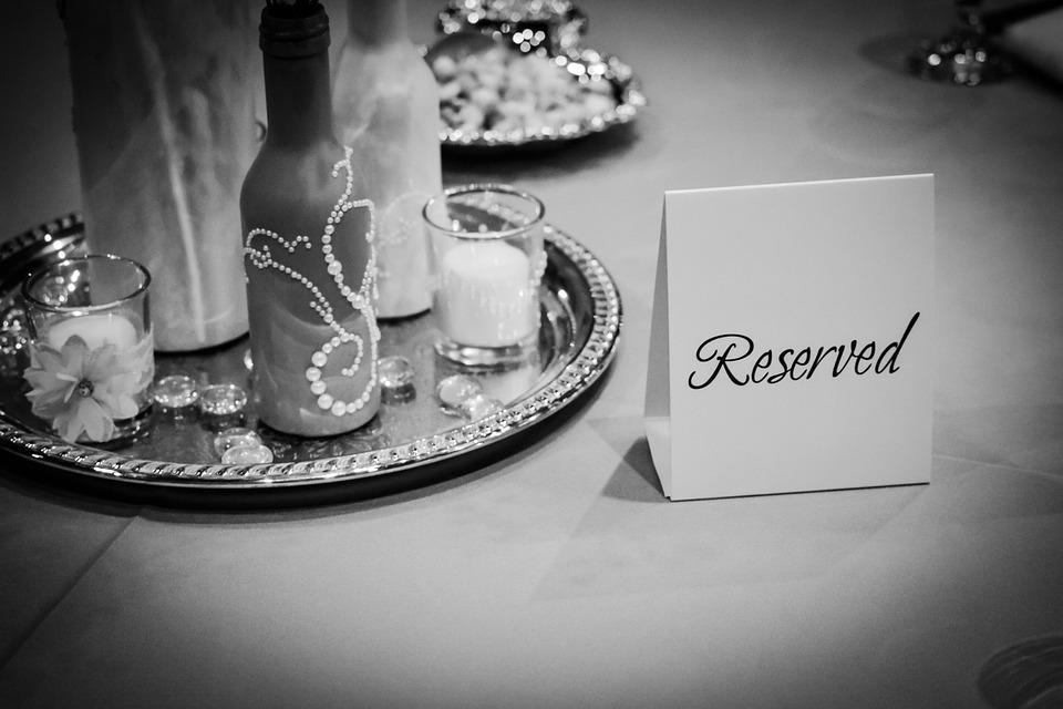 Signo Reservado, Decoraciones De La Boda, Mesa, Formal