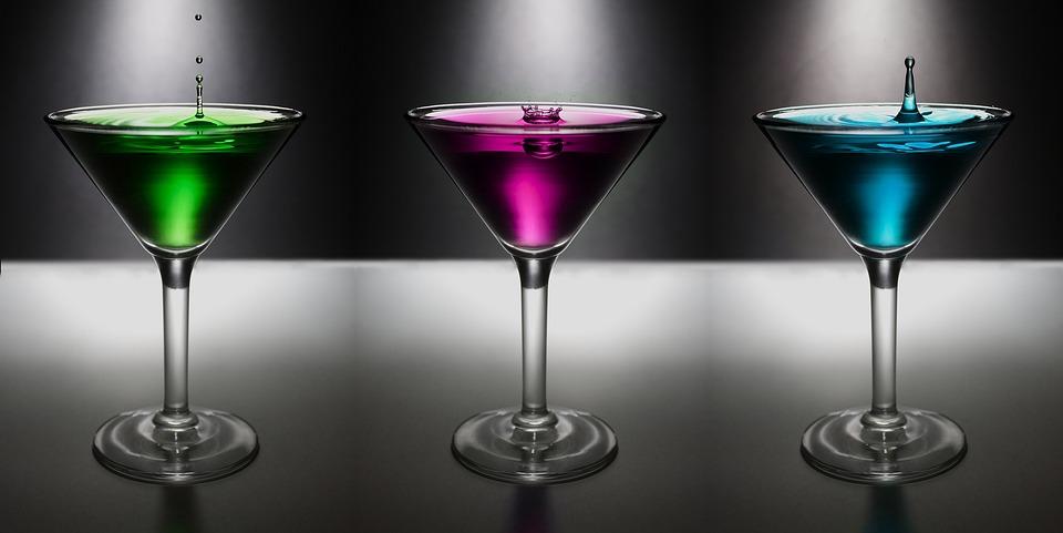 martini drop water colo drink alcohol glass - Free Colo