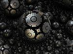 fractal, sphere, steel