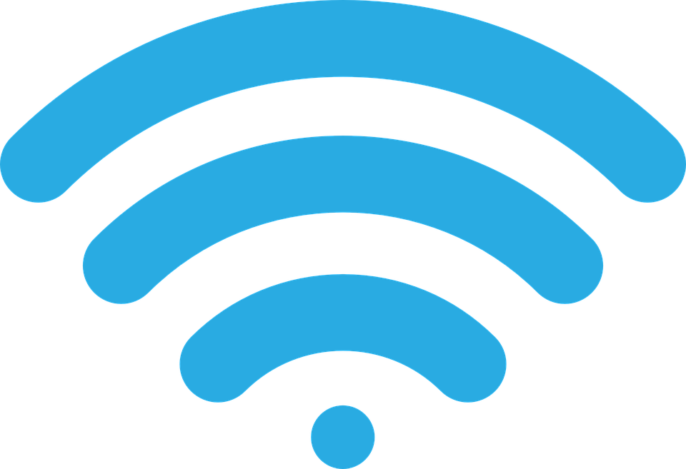 Wireless Signal, Icon, Image, Vector, Blue, Wi-Fi