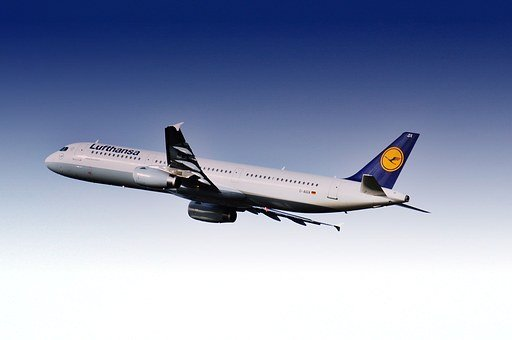 Aircraft, Airport, Lufthansa, Flying