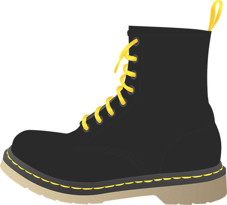 Free Vector Graphic Doc Marten Boot Clothing - Free Image On Pixabay - 1119779