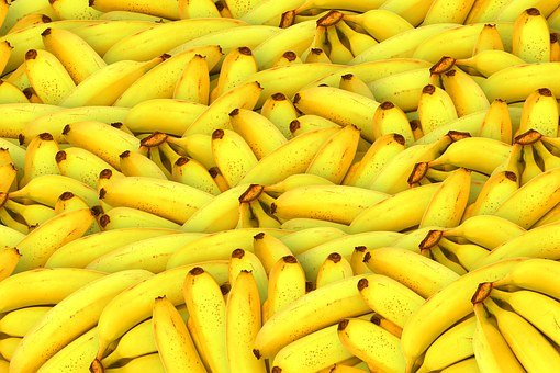 Bananas Fruit Yellow Healthy Fresh Fruit T