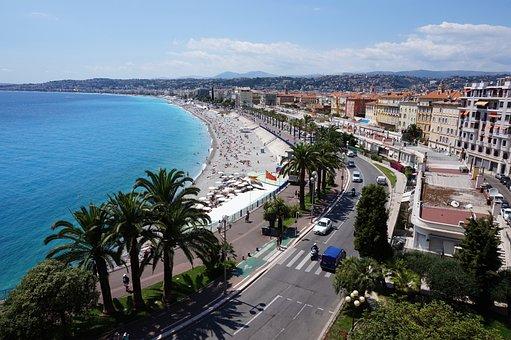 Nice, France, Sea, Mediterranean, French