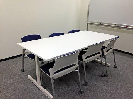 会議室, 会議スペース, 椅子, イス, 机, デスク, 事務, ホワイトボード