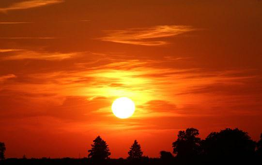 Sunset, Sun, Abendstimmung, Setting Sun