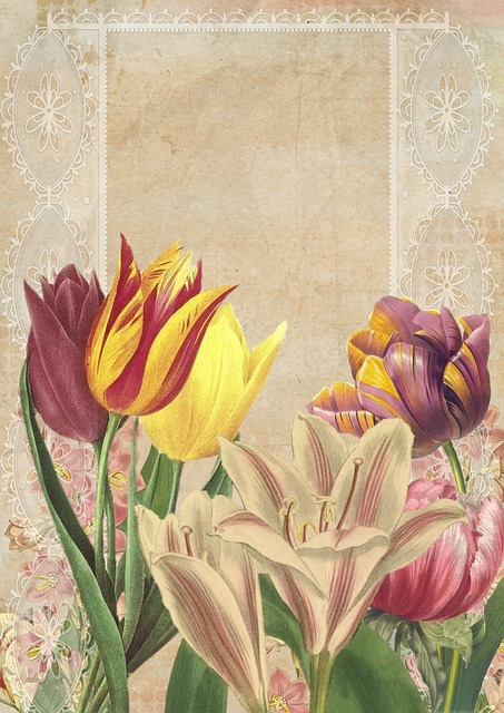 Free Illustration Vintage Flower Art Collage Free