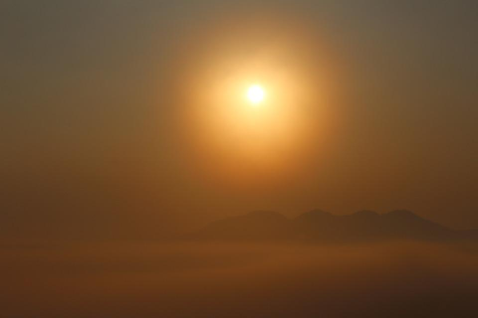 Sunrise, Heaven, Clouds, Sunlight, Sky, Summit