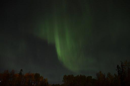 Northern Lights, Aurora Borealis, Sky