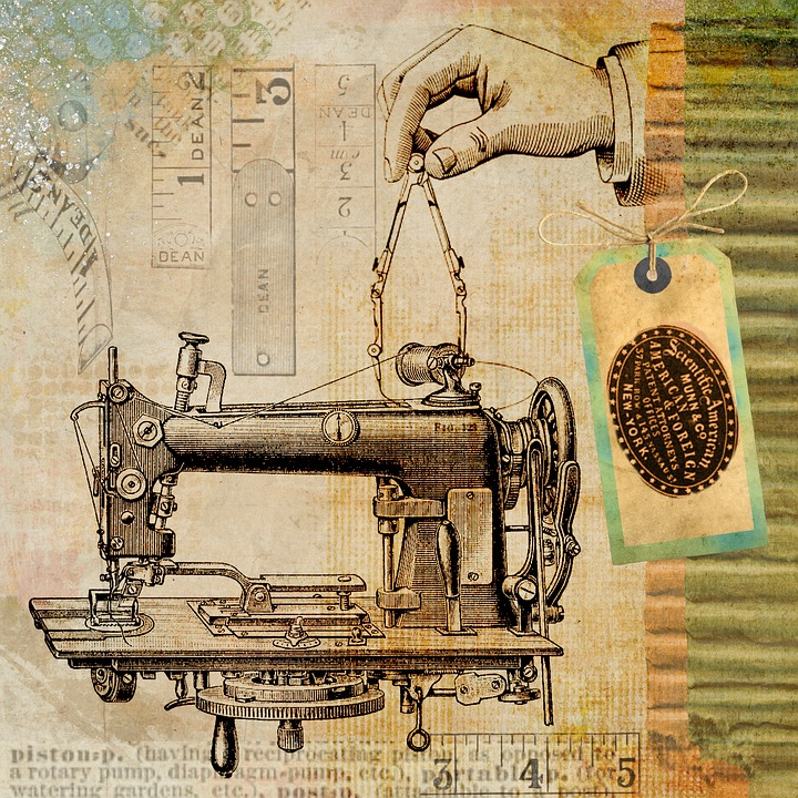 Wallpaper Treasure Who Invented The Automobile: Free Illustration: Sewing, Vintage, Machine, Steampunk