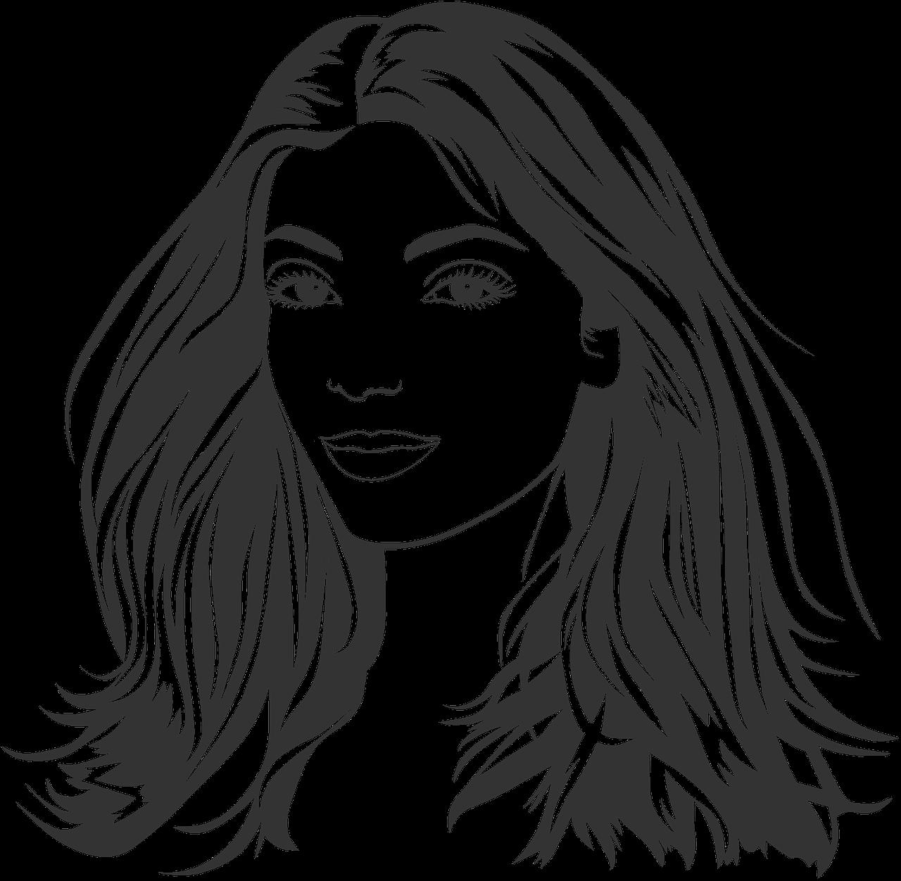 Gambar Kartun Wanita Rambut Panjang Gadis Wanita Rambut Panjang Muda Gambar Gratis Di Pixabay
