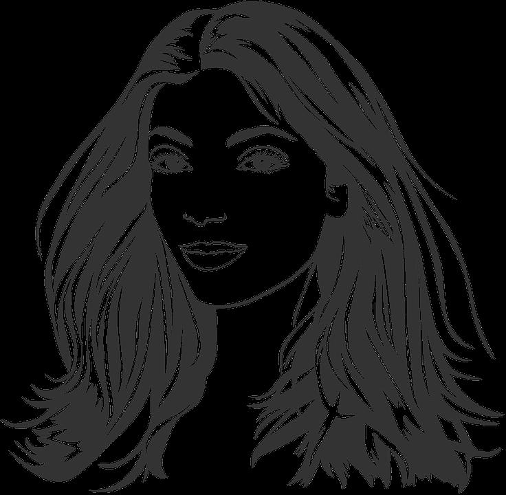 Hasil gambar untuk gambar kartun wanita dengan rambut panjang