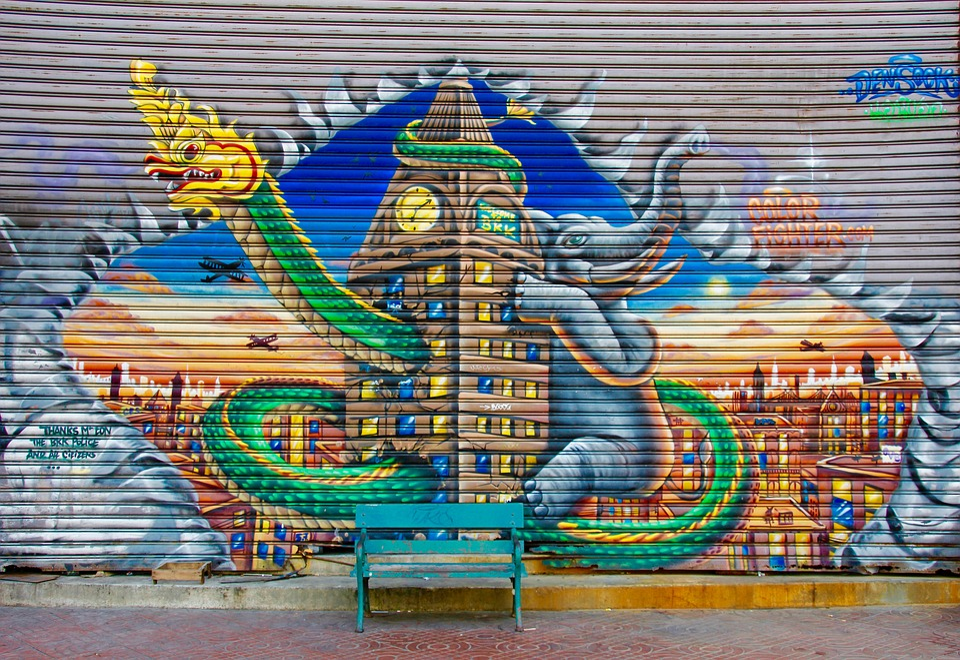 Free Photo Graffiti Bank Wall Colorful Free Image On