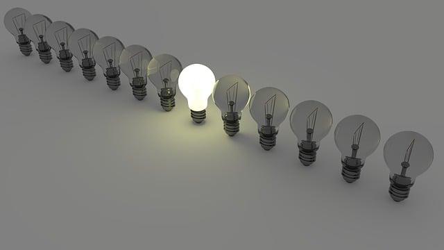 電球, 光, エネルギー, ランプ, アイデア, 個々, ヘッド, チーム, アンダース, 異なる, 目立つ