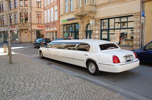 Limousine, Auto, White, Oldtimer
