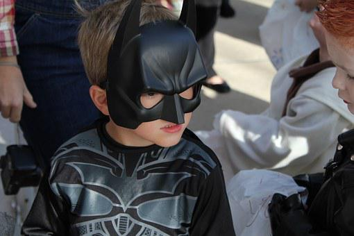 Batman, Costume, Kid, Young, Halloween