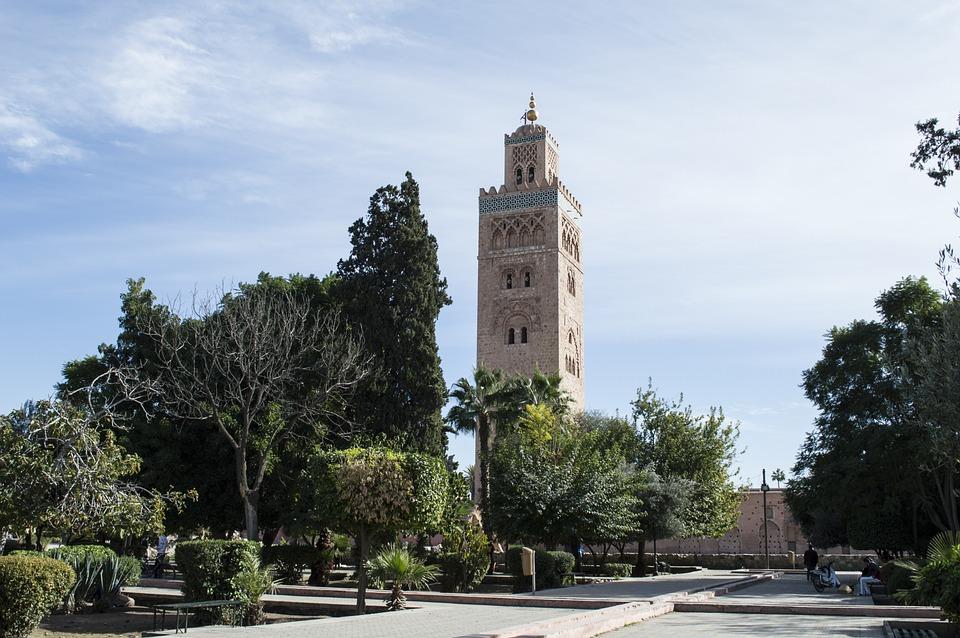 Mosquée, Marrakech, Maroc, Marocain, Afrique, Arabe