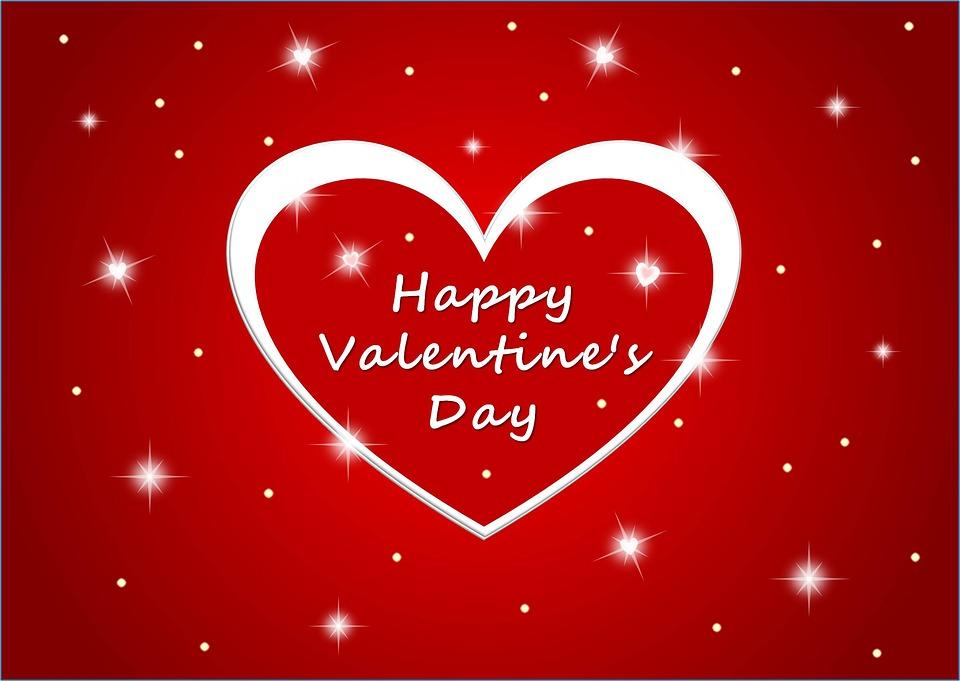Schön Herz Valentinstag Liebe Rot Grusskarte Verliebt