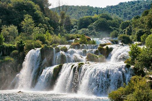 Chorwacja, Wody, Charakter, Wodospad