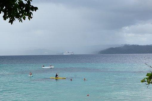 レバンタード, ビーチ, カリブ海, 海外, 海, エキゾチックです