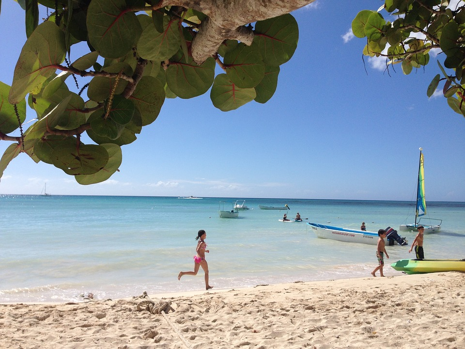 Karibien, La Romana, Strand, Flicka